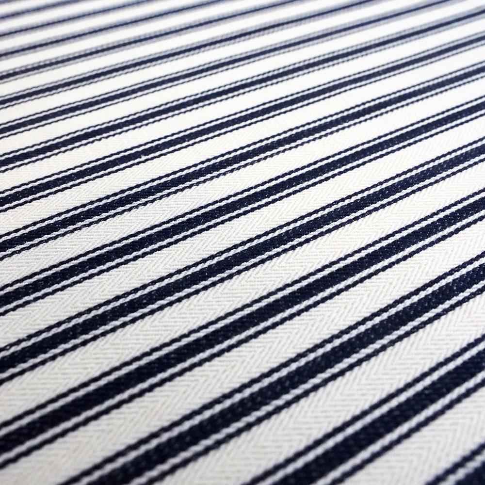 Fabric - Navy Ticking - Detail