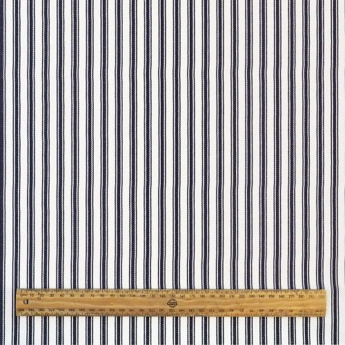 Fabric - Navy Ticking - Scale