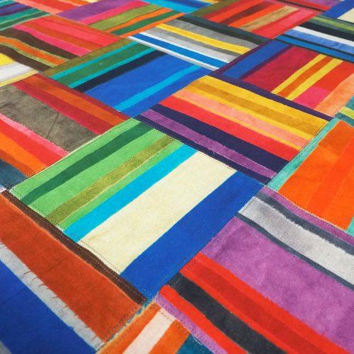 Fabric Rainbow Basketweave