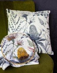 Embroidered Cushion by Fi Laidlaw