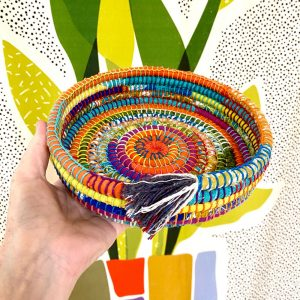 Recycled Fabric Basket Coiling