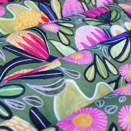 Protea Magnific Fabric by Kirsten Katz