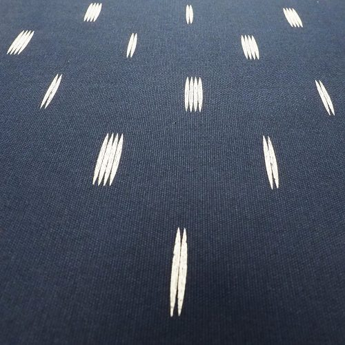 Fabric - Trent (navy with white motifs) detail