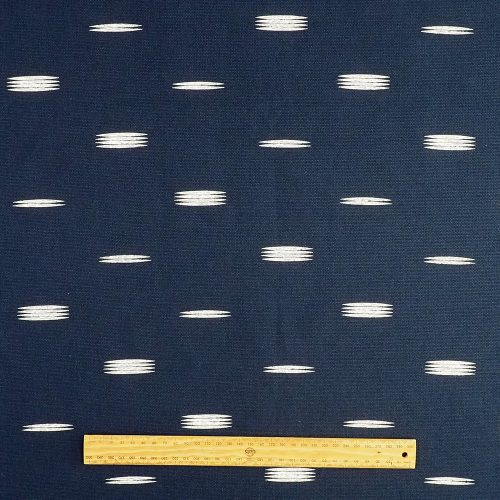 Fabric - Trent (navy with white motifs)