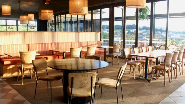 Hessian shades in the Bistro at Central Hotel Shellharbour