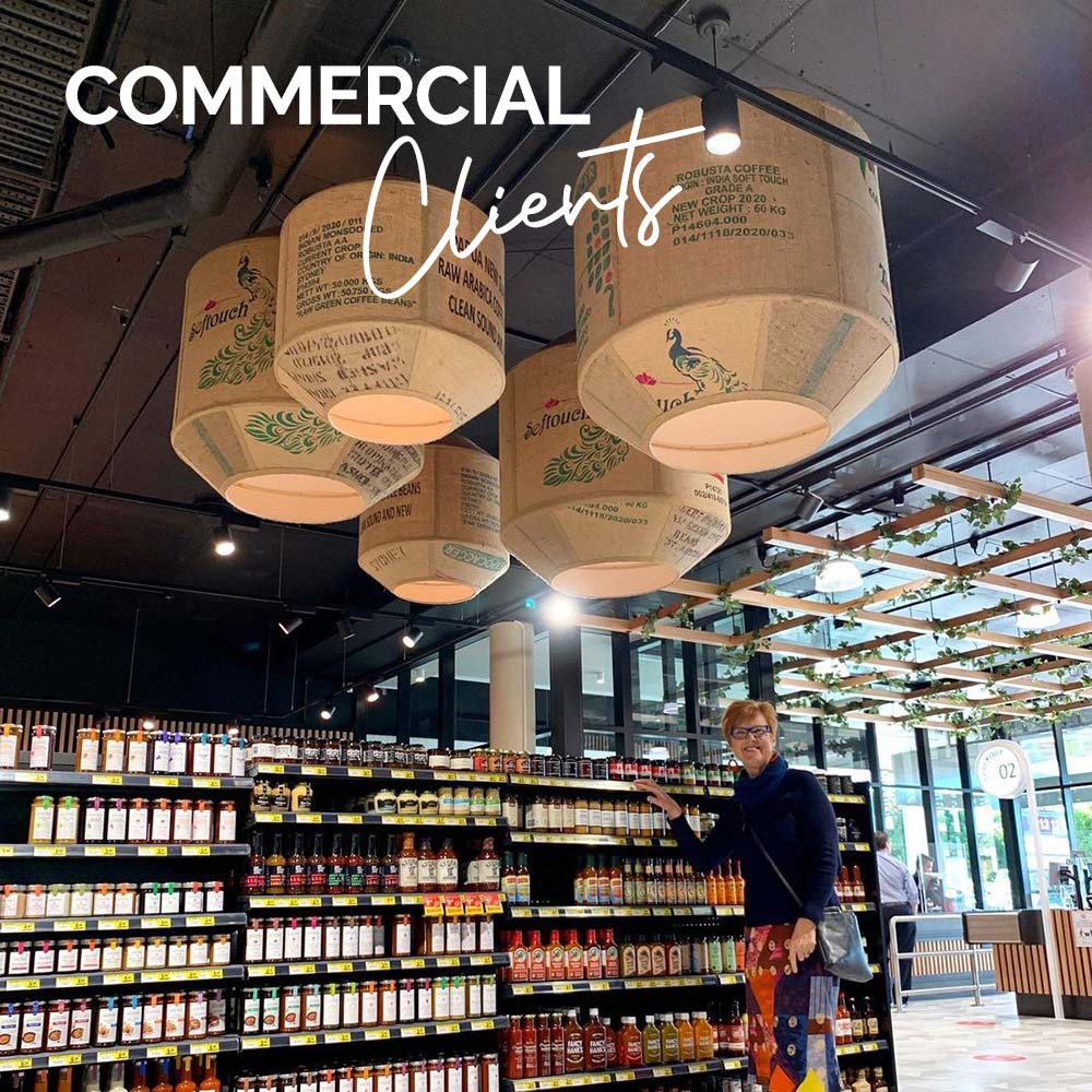Commercial supply of lampshades to architects, builders, designers and other consultants