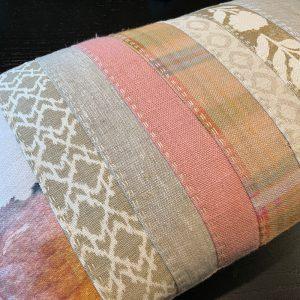 Slow Stitched Cushion Kit Blush