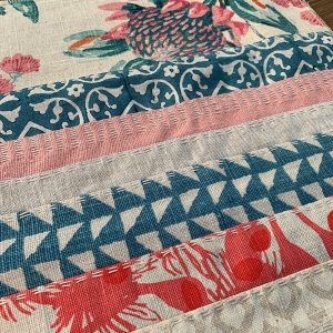 Slow Stitched Cushion Kit Coral