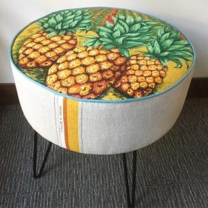 Custom made ottoman with pineapple