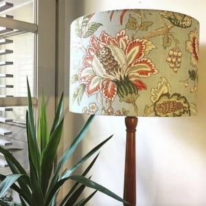 Lampshade on standard base