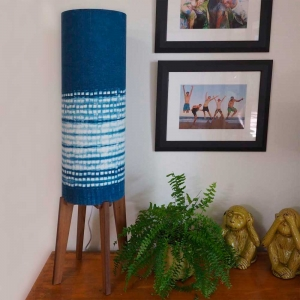 Rocket Lamp with Shibori Shade