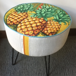 Custom made ottoman with pineapple